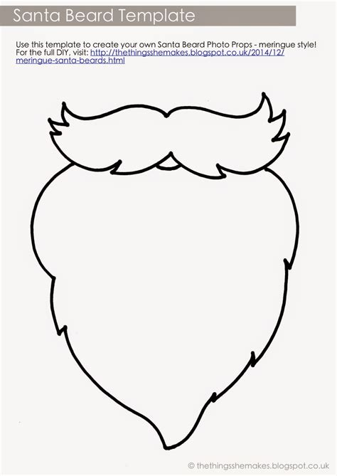 Beard Template Printable meringue santa beards the things she makes