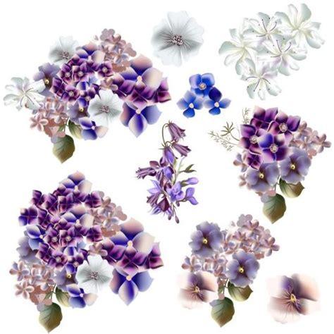 watercolor pattern with purple flowers vector free download watercolor flowers purple and blue colors vector vector