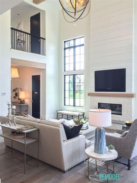 modern farmhouse living room fireplaces modern