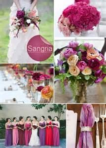 Sangria and shades of purple 2014 fall wedding color ideas