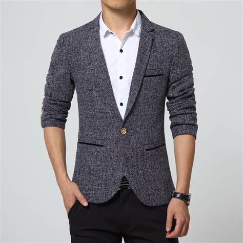Blazer Uniqee new slim fit casual jacket cotton blazer jacket single