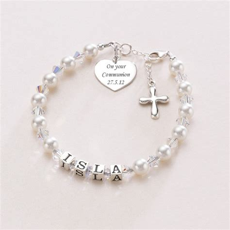 's Luxury First Holy Communion Bracelet   Charming Engraving