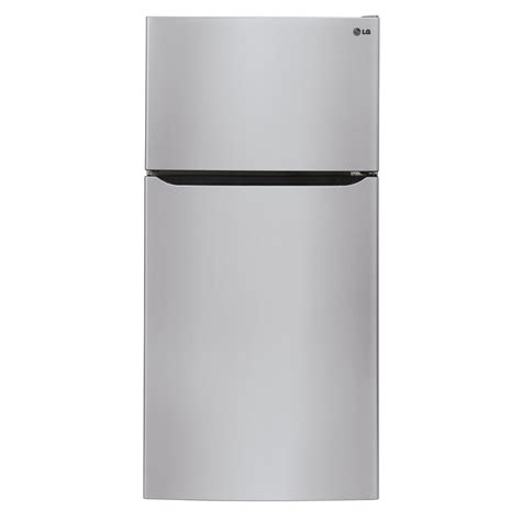 Freezer Lg shop lg 20 2 cu ft top freezer refrigerator with maker stainless steel energy at