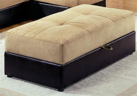 tan ottoman storage coaster kuser storage ottoman tan 300169 homelement com