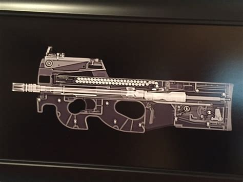 like whoa mp fn p90 sub machine gun xray guns print