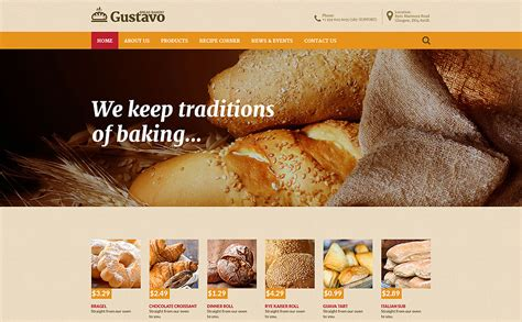 bootstrap themes bakery bakery responsive website template 57941