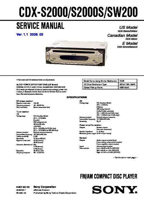sony cdx sw200 wiring diagram wiring diagrams