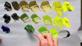 which colors make green how to mix green acrylic paint