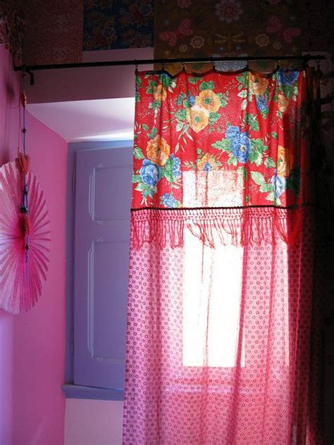 Amanhecer short curtains floral curtains and ceiling