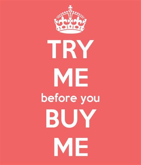 Try Before You Buy 3 by Try Me Before You Buy Me Poster Keep Calm O Matic