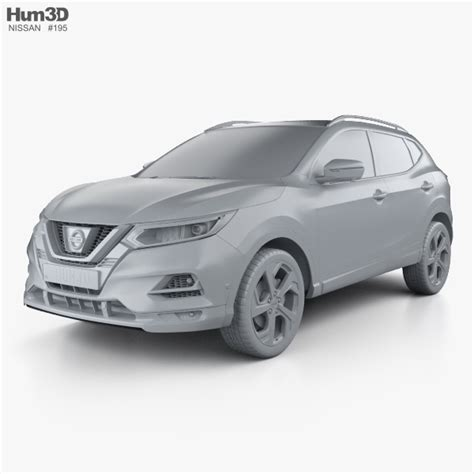 nissan qashqai interior 2017 nissan qashqai with hq interior 2017 3d model hum3d