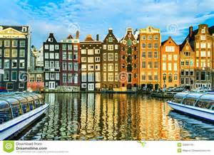 homes for in nederland traditional houses of amsterdam netherlands stock photo