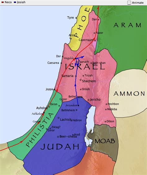 kings israel judah divided kingdom map