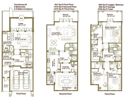 Townhouse Floor Plans by Luxury Townhome Floor Plans Search Home