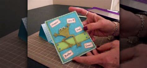 how to make a get well card how to make a get well pedestal card using cricut paper