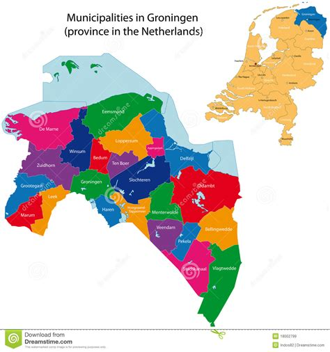 ais netherlands groningen provincie van nederland vector illustratie