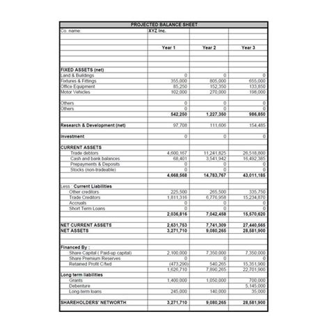 Profit And Loss Statement And Balance Sheet Template by Best Photos Of Projected Balance Sheet Sle Balance