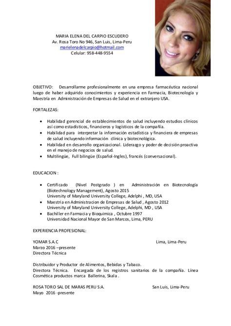 Modelo De Curriculum Vitae En Frances Gratis Curriculum Vitae 2016 Espa 241 Ol