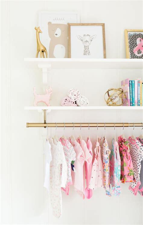 girly nursery wallpaper 26 best nursery closets storage ideas images on