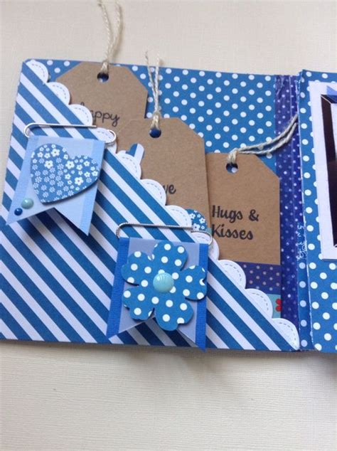 Handmade Flip Book - flip book snail mail idea tuck pockets with tags and