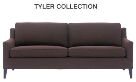 tyler sofa tyler sofa mitchell gold contemporary sofas by