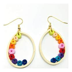 quilling earrings images simple quilling earrings blue