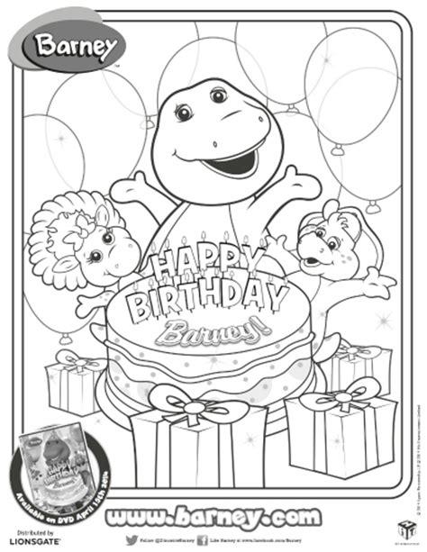 barney birthday coloring page happy birthday barney printable coloring page printable