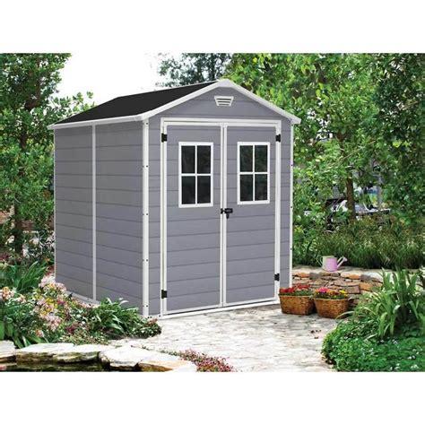 keter abris de jardin keter abri de jardin pvc 4 m2 quot premium 86 quot gris comparer les prix de keter abri de jardin