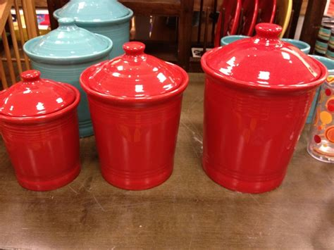 fiesta kitchen canisters fiesta ware canisters from kohl s in red wish list