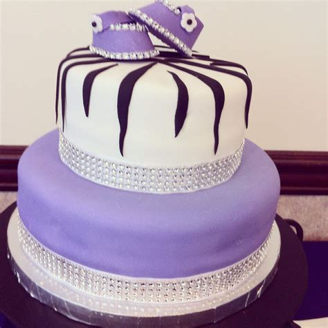 Baby Shower Purple by Baby Shower Cake I Made Theme Was Purple And Zebra