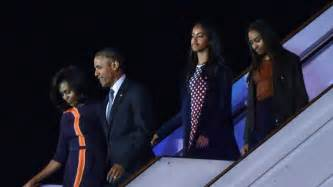 barack obama gets a sneaky visit from daughter sasha in from cuba history laden trip takes obama to argentina