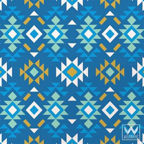 Blue tribal pattern wallpaper galleryhip com the hippest galleries