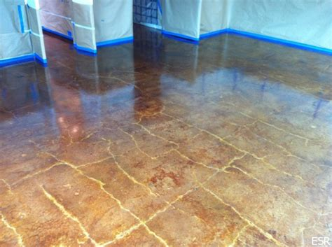 concrete floor staining home depot concrete stain acid