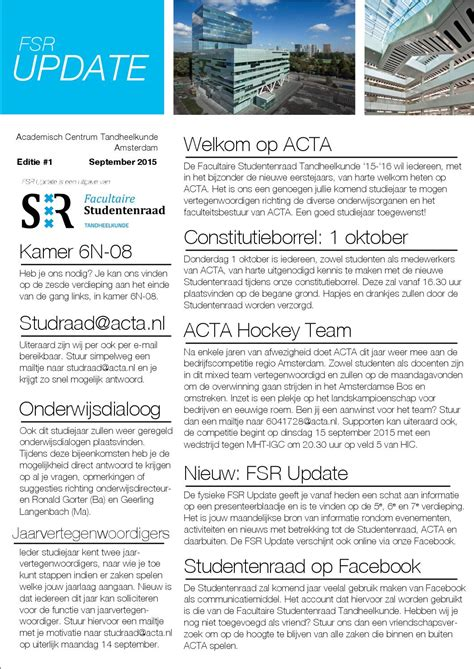 fsr update september  facultaire studentenraad