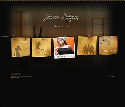 Personal Page Dynamic Flash Template Dynamic Flash Website Templates Free