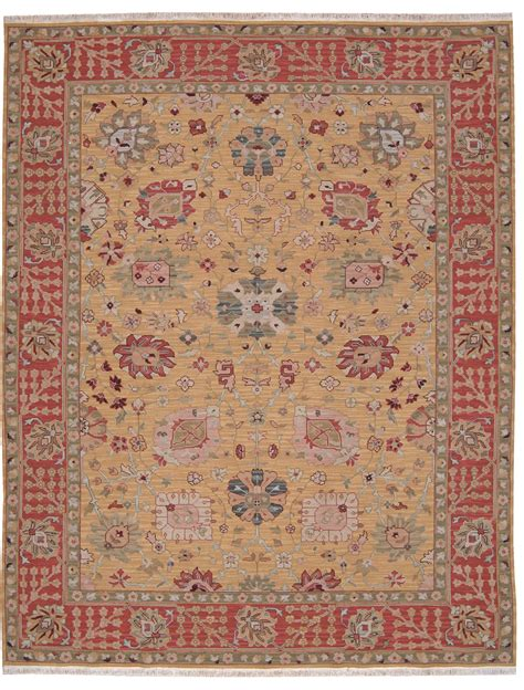 payless rugs grand antiquities ga169 gold oushak knotted flat weave 100 wool payless rugs
