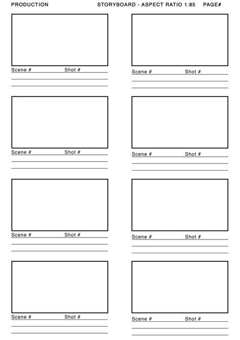 anime storyboard template 1 85 aspect ratio storyboard template search