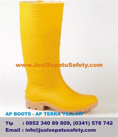 Sepatu Ap Boot Terra sepatu boots proyek warna kuning boot safety tahan air
