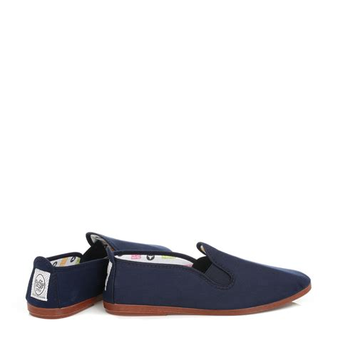 navy blue flats shoes flossy womens casual shoes flats unisex navy blue canvas