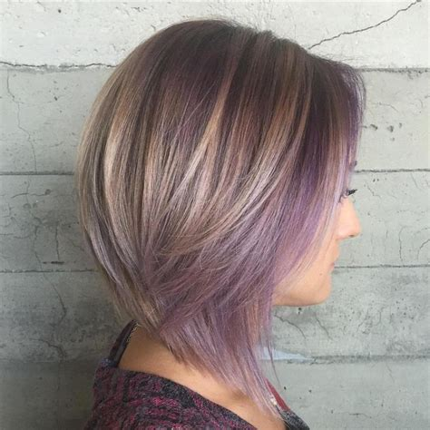 shag haircut brown hair with lavender grey streaks 17 best images about hairstyles on pinterest sandra