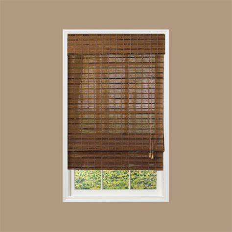 l shades radiance pecan bamboo shade 70 in w x 64 in l 0215470 the home depot
