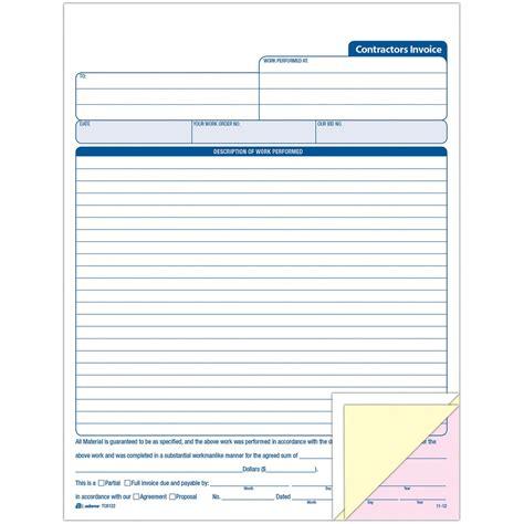 template independent contractor invoice joy studio