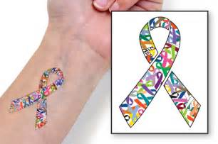 ribbon of hope temporary tattoo choose hope