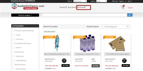 Featured Products Homepage Top Featured Products Auctionsoftware