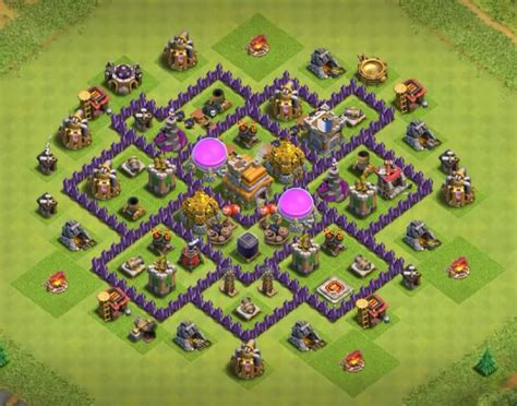 layout design coc th 7 18 exceptional town hall 7 war farming and trophy base