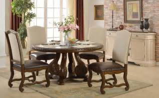 Dining Room Set With Nailhead Trim 5p Dining Set Traditional Table Nailhead Trim Chairs