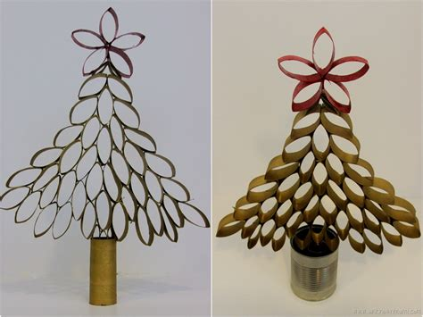 diy toilet paper roll christmas tree by claudya