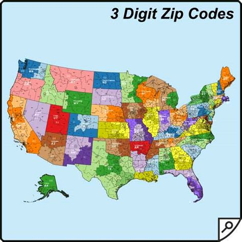 map of usa states zip codes wisconsin 3 digit zip code map images