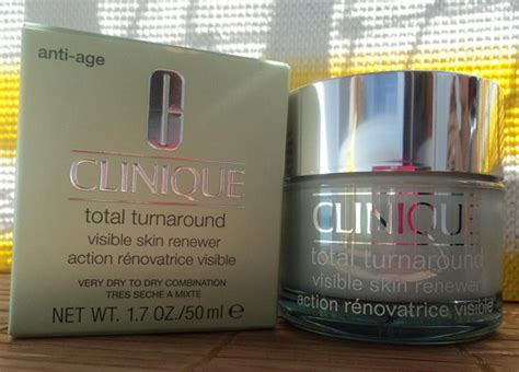 Clinique Total Turnaround test anti ageing clinique total turnaround visible