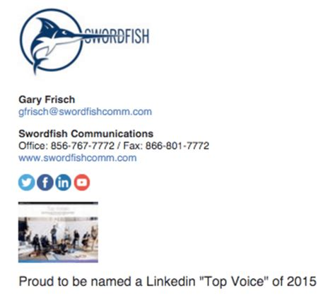 Linkedin Tagline Mba by 27 Business Email Signature Exles From The Pros